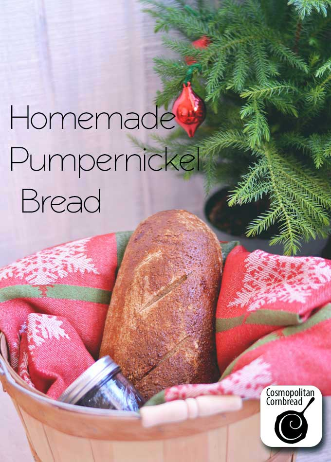 Homemade Pumpernickel Bread from Cosmopolitan Cornbread