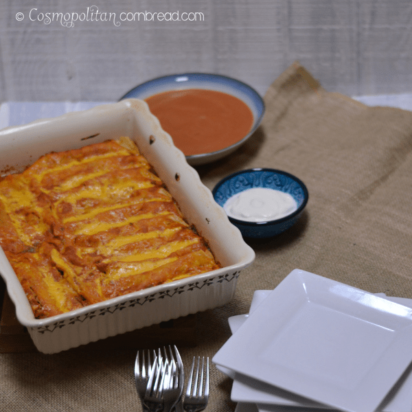 Beef and Bean Enchilada Bake | #SundaySupper