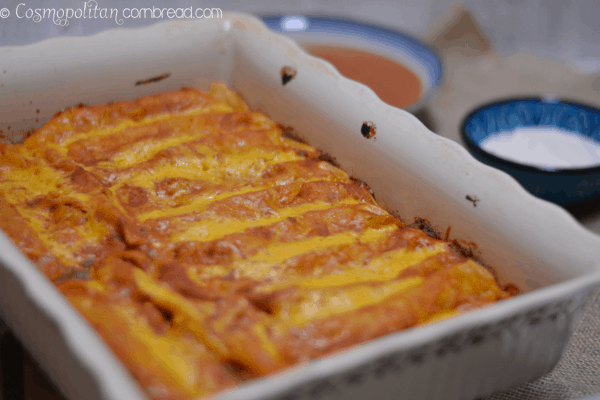 Beef and Bean Enchilada Bake from Cosmopolitan Cornbread