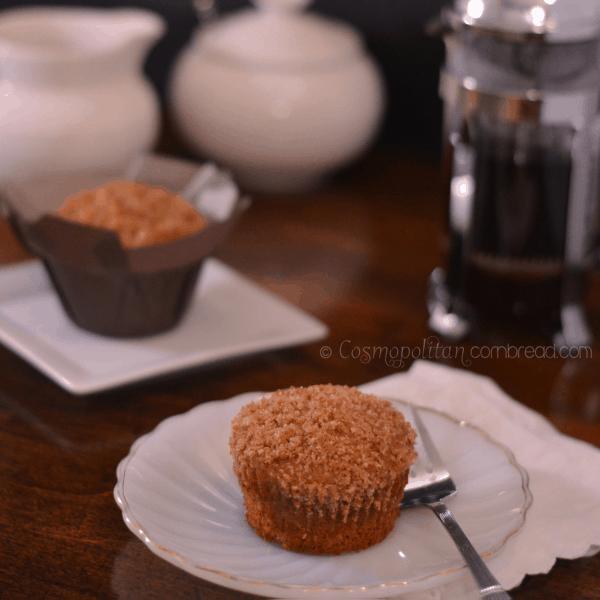 Bourbon Banana Crumb Muffins by Cosmopolitan Cornbread sq