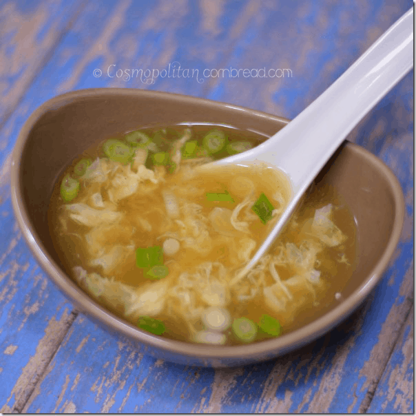 How to make Homemade Egg Drop Soup | Get the recipe from Cosmopolitan Cornbread