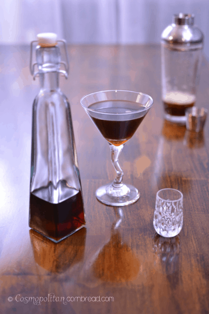 Coffee Infused Vodka from Cosmopolitan Cornbread