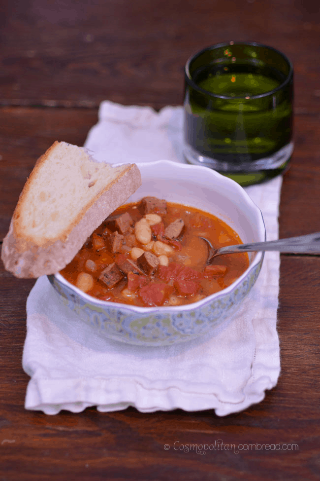Kielbasa and White Bean Soup | #SundaySupper
