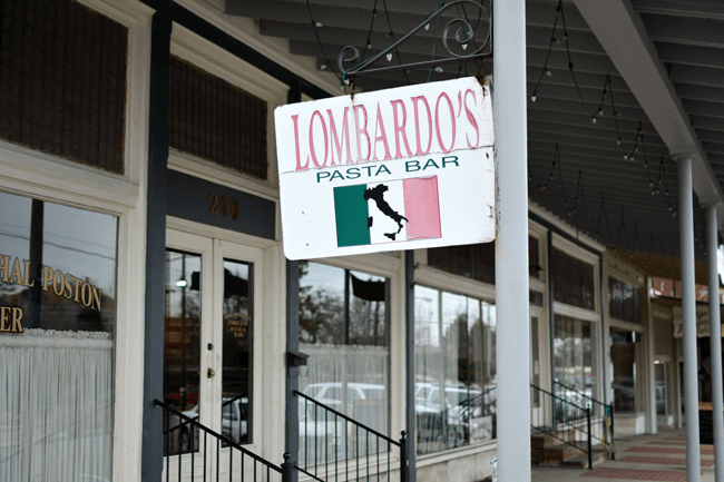Lombardo's Pasta Bar in Cullman Alabama