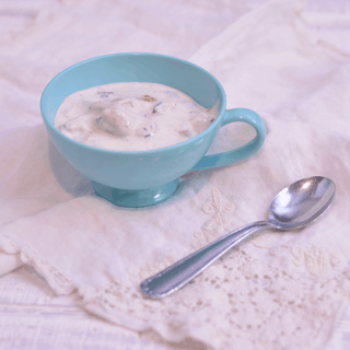 Blueberry Cheesecake Ice Cream | #SundaySupper
