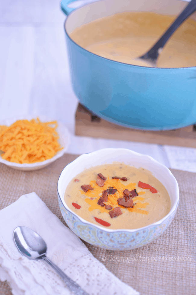 Pimento Cheese Potato Soup | #SundaySupper