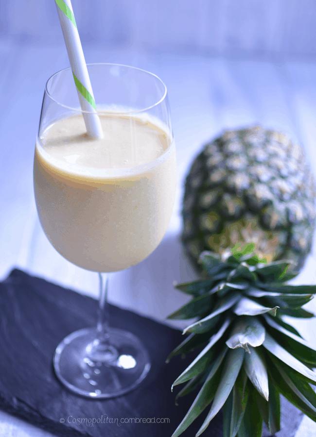 Piña Colada Summer Smoothie | #SundaySupper