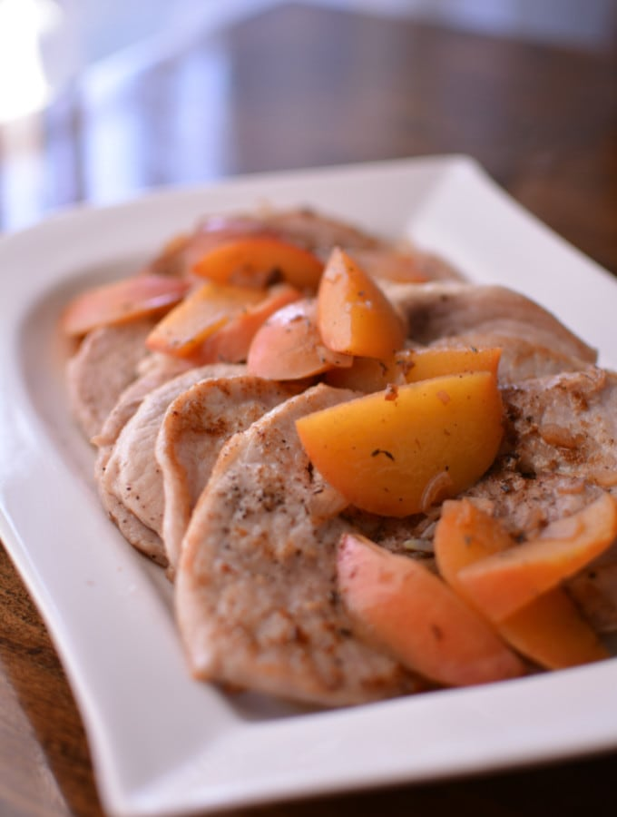 Peach & Pork Scallopini