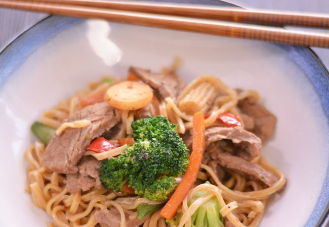 Homemade Beef Lo Mein