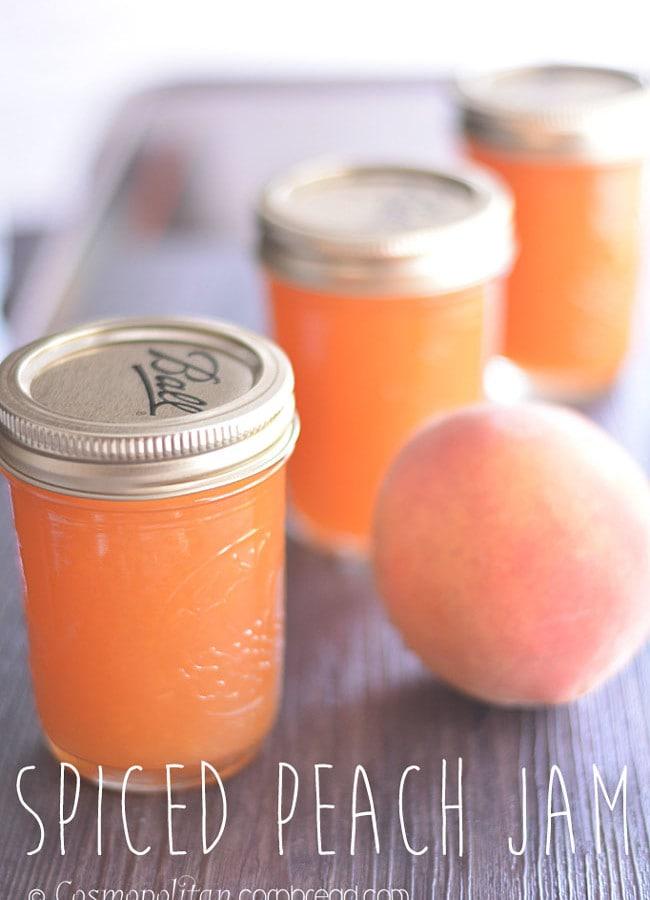 Spiced Peach Jam | #SundaySupper