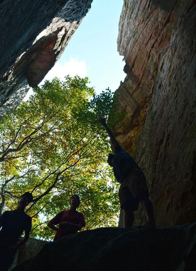 Rock Climbing at Cherokee Rock Village in Alabama