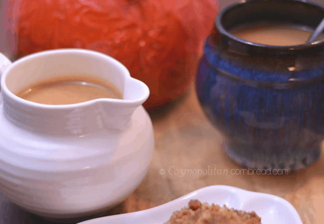 Homemade Pumpkin Spice Latte Creamer with real pumpkin from Cosmopolitan Cornbread