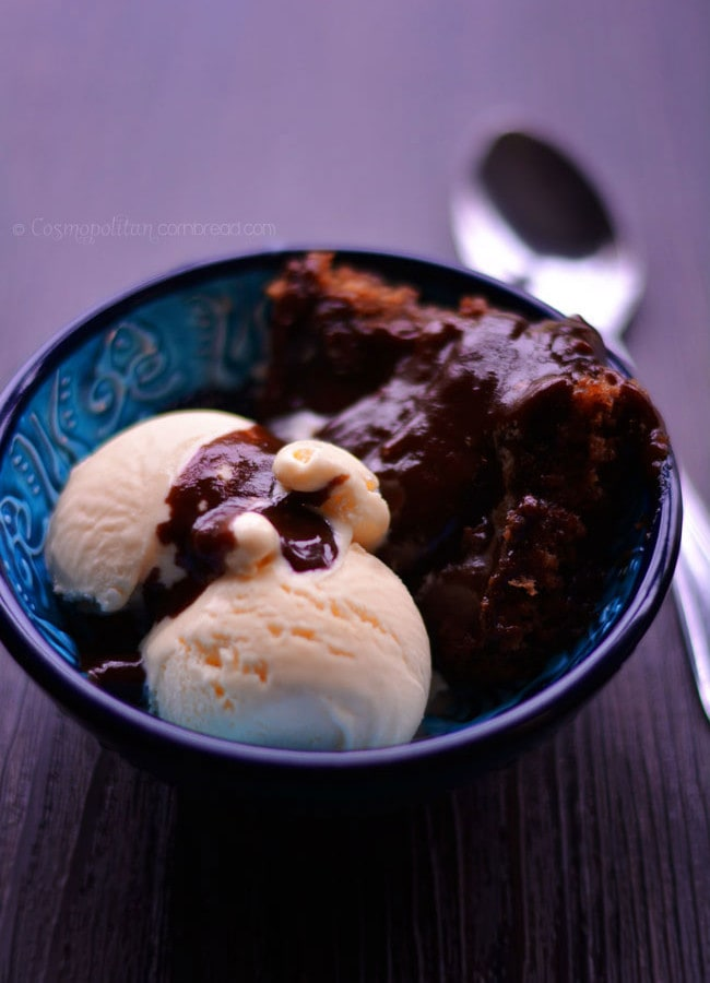 Fudge Pudding Cake | #SundaySupper
