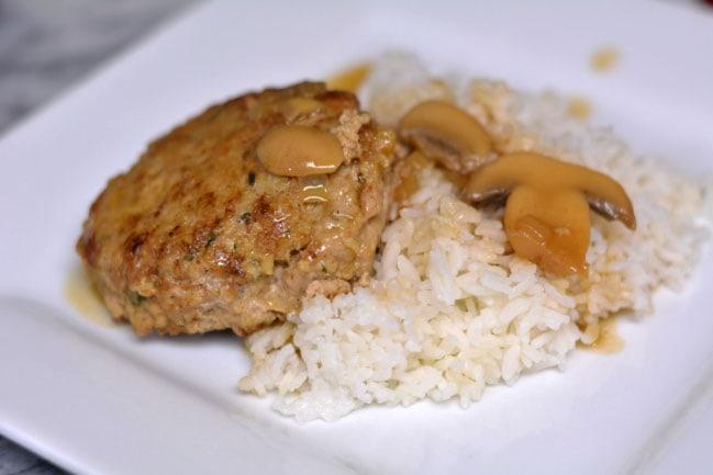 Turkeys-bury Steaks in Mushroom Gravy from Cosmopolitan Cornbread