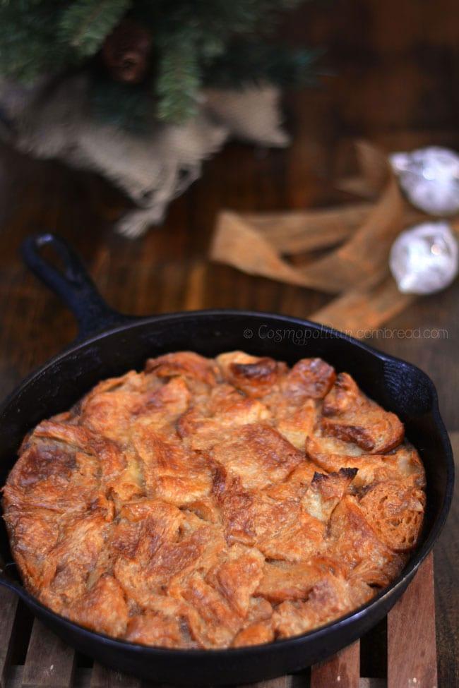 Wickedly Decadent Caramel Bread Pudding from Cosmopolitan Cornbread