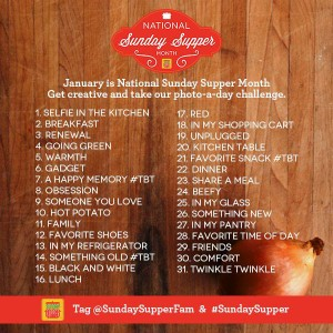 sunday supper month