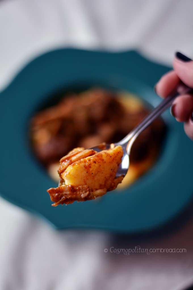 Red Pork Chili   a slow cooker recipe from Cosmopolitan Cornbread