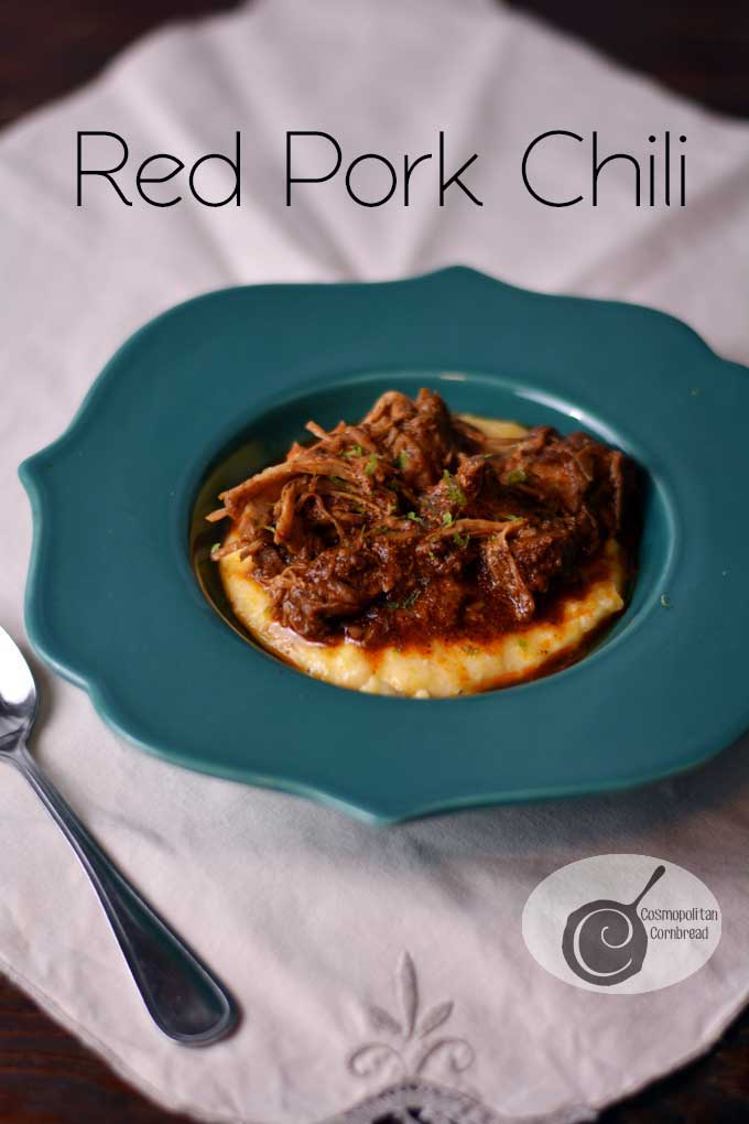 Red Pork Chili | a slow cooker recipe from Cosmopolitan Cornbread