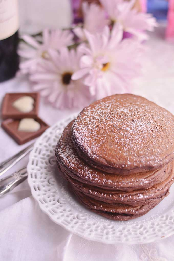 Chocolate Pancakes from Cosmopolitan Cornbread