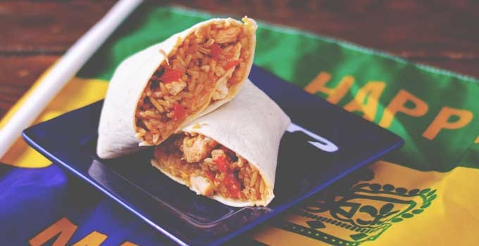 Chicken and Sausage Jamburritos from Cosmopolitan Cornbread
