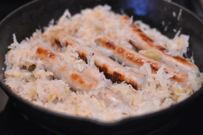 How to Pan-fry Bratwurst | Cosmopolitan Cornbread