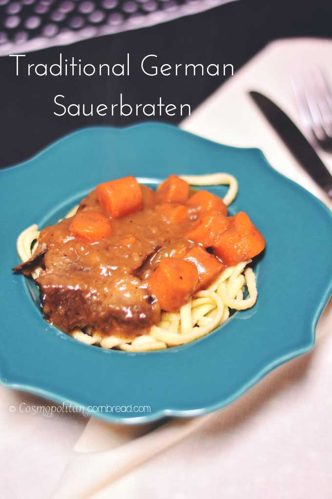 How to make traditional German Sauerbraten | Cosmopolitan Cornbread