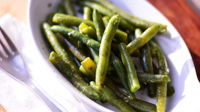 Bohnensalat – German Green Bean Salad | #SundaySupper