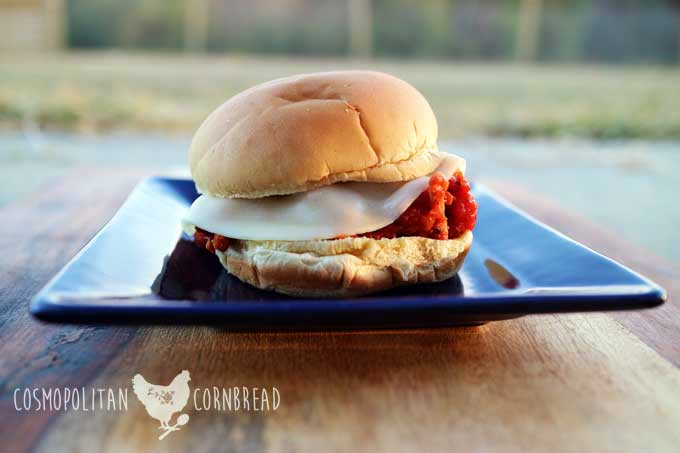 Pizza Joes - a fun, kid-friendly, slow cooker Sloppy Joe recipe from Cosmopolitan Cornbread