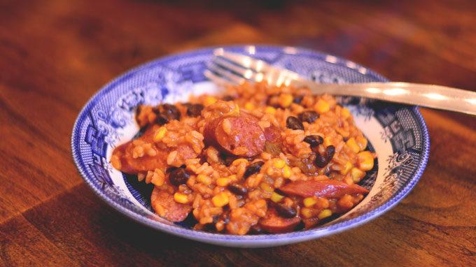 Zippy Kielbasa & Rice