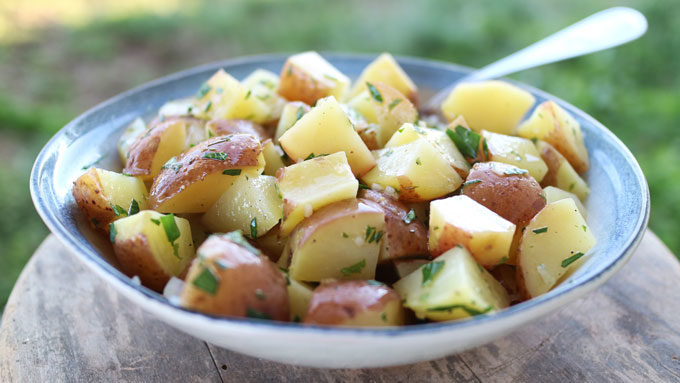 Herbed Lemon Potato Salad | #SundaySupper