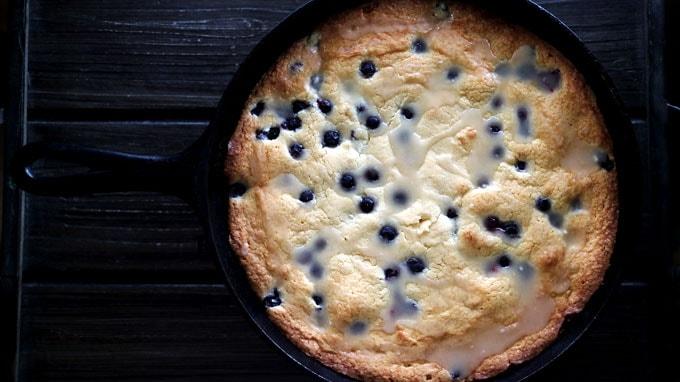 Lemon & Blueberry Skillet Cake