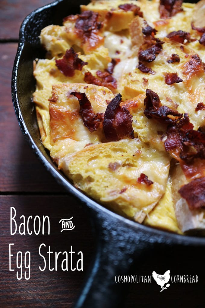 this delicious bacon egg strata is the comfort food of breakfast enjoy this dish - Strata Egg Dish