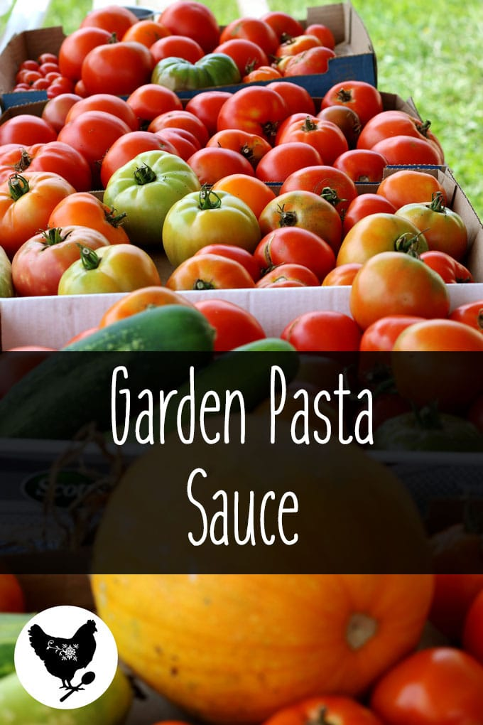 Garden Pasta Sauce from Cosmopolitan Cornbread