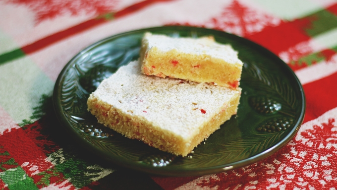 Candy Cane Cookie Bars