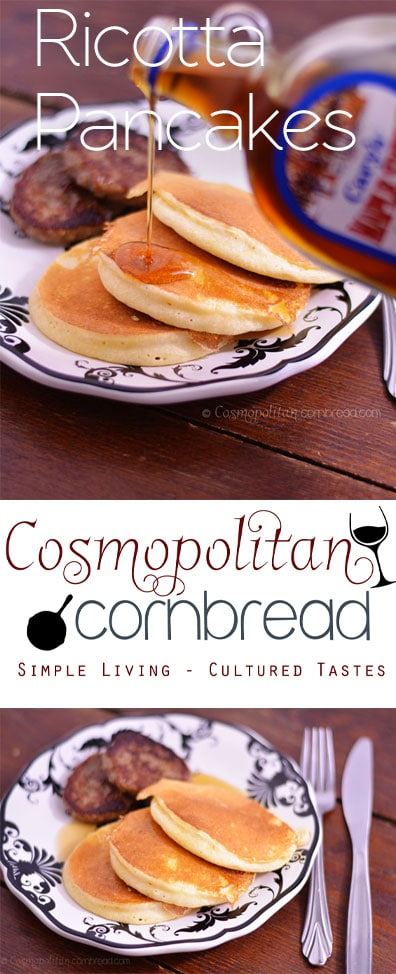 Light as a feather, Ricotta Pancakes - get the recipe from Cosmopolitan Cornbread