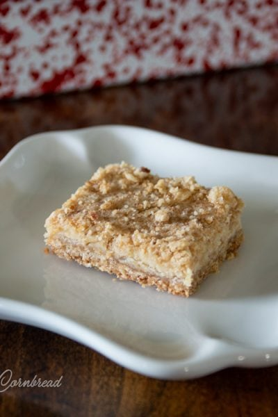 Lemon Crumbles - Lemon Oat Bars with a mildly sweet, creamy filling. Get the recipe from Cosmopolitan Cornbread.