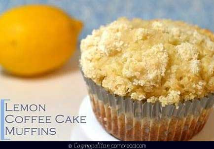 Lemon Coffee  Cake Muffins from Cosmopolitan Cornbread