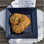 Double Chocolate Chip Cookies | #SundaySupper