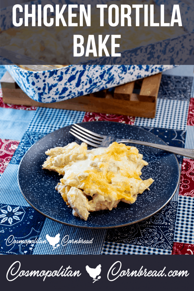 Chicken Tortilla Bake is fun dish full of creamy flavor. This is a family favorite and a great pot luck dish too!