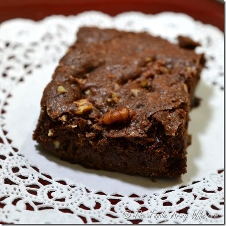 These deliciously moist and fudgy brownies are one of my favorite treats to make.