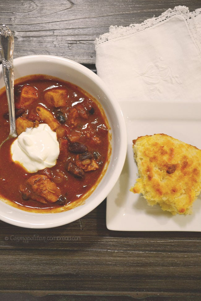 Jerked Chicken Chili from Cosmopolitan Cornbread