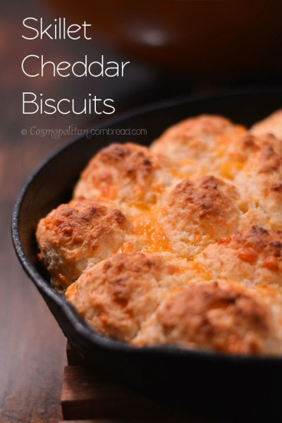 Skillet Cheddar Biscuits from Cosmopolitan Cornbread