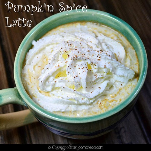 Pumpkin Spice Latte made with real pumpkin - from Cosmopolitan Cornbread