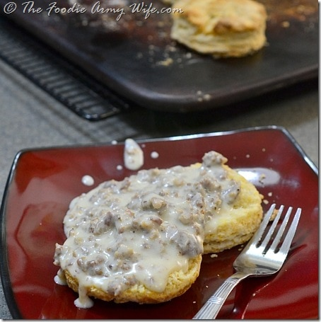 Sausage Gravy by TheFoodieArmyWife.com