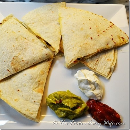 Quesadillas from TheFoodieArmyWife.com