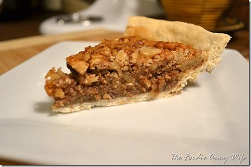 Maple Walnut Pie from TheFoodieArmyWife.com