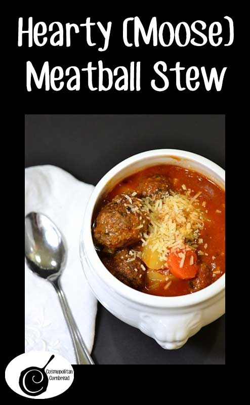 This meatball stew is the perfect dish to keep your tummy warm and filled on a cold Alaskan (or anywhere) winter evening. But don't worry, I made this recipe with ground beef for years before ever making it with moose. You can do the same.