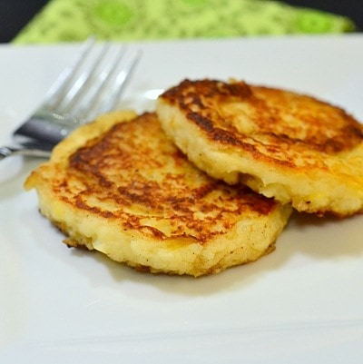 German Potato Pancakes are an excellent way to use up leftover mashed potatoes. You'll want to make a double batch of mashed potatoes just so you can make these!