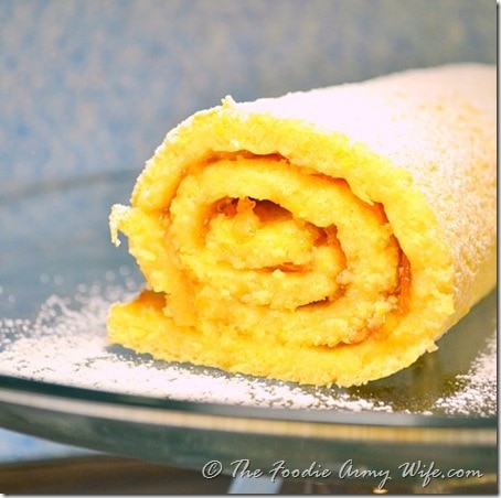 Orange Jelly Roll Cake by TheFoodieArmyWife.com