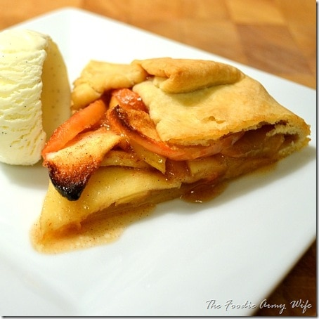 Rustic Apple Galette from TheFoodieArmyWife.com